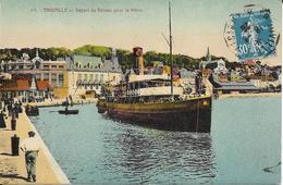 TROUVILLE Départ Du Bateau Pour Le Havre Animée Et Navire - France
