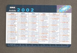 CALENDARIO 2002 INA ASSITALIA ASSICURAZIONI  PLASTIFICATO - Calendari
