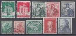 Bizone Lot Minr.101-110 Gestempelt - Briefmarken