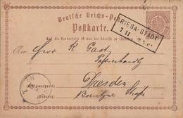 DR Ganzsache R2 Riesa-Stadt 7.11. Gel. Nach Dresden - Briefe U. Dokumente