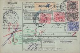 DR Paketkarte Mif Minr.2x 86I,87I,2x 91I Stuttgart 2.5.11 Gel. In Schweiz - Deutschland