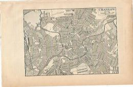 LAMINA ESPASA 1896: Plano De Charkow Rusia - Zonder Classificatie