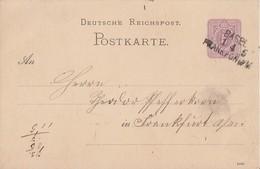 DR Ganzsache Bpst. L3 Basel-Frankfurt/M. - Deutschland