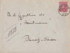 DR GS-Umschlag K1 Alt-Ruppin 27.2.87 Gel. Nach Dresden-Blasewitz - Briefe U. Dokumente
