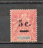 REUNION   N° 53   NEUF AVEC CHARNIERE COTE  12.00€   TYPE GROUPE - Réunion (1852-1975)