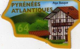 Magnets Magnet Le Gaulois Departement Tourisme France 64 Pyrenées Atlantiques - Tourism