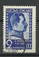 FINLAND FINNLAND 1937 Marssal Mannerheim Michel 203 O