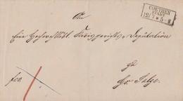 Preussen Brief R3 Coethen Stadt 12.7. Gel. Nach Gr. Salze - Preussen