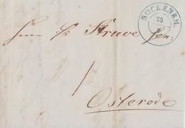 Hannover Brief K2 Bockenem 25.9. Gel. Nach Osterode - Hannover