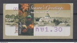 ISRAEL 2005 KLUSSENDORF SIMA FRAMA ATM CHRISTMAS SEASON´S GREETINGS FROM THE HOLY LAND 1.30 SHEKELS - Viñetas De Franqueo (Frama)