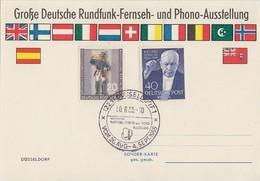 Berlin Anlasskarte Mif Minr.120.124 SST Düsseldorf 30.8.55 - Berlin (West)