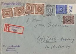 Gemeina. R-Brief Mif Minr.4x 913,918,920,934 OR Ronneburg 8.5.46 - Gemeinschaftsausgaben