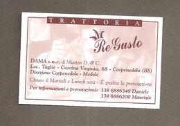 CALENDARIO 2005 TRATTORIA RE GUSTO - CARPENEDOLO BRESCIA - Calendari