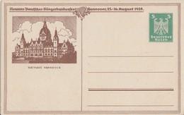 DR Privat-Ganzsache Minr.PP81 C3/05 Postfrisch Sängerbundesfest Hannover 23-26.8.1924 - Deutschland