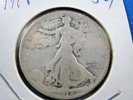1918  WALKING LIBERTY HALF DOLLAR                 (sk50-5,6, Or 7) - 1916-1947: Liberty Walking