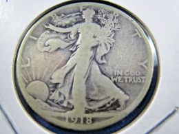 1918S  WALKING LIBERTY HALF DOLLAR                 (sk50-36, Or 10) - Federal Issues