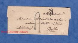Lettre Ancienne De 1825 - PARIS Courrier Signé Delozieres Clerc De Maitre TOURIN - Certificat Bricard - Notaire à Bolbec - 1801-1848: Précurseurs XIX