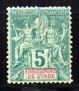 Col 4/ Inde N° 4 Neuf X MH Cote 6,80€ - Unused Stamps