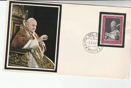 1963 VATICAN Stamps EVENT COVER  The DAY Of DEATH OF POPE JOHN XXIIII - Vatican