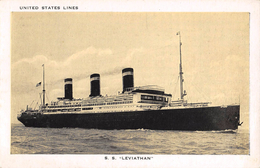 """05826 """"TRANSATLANTICO S.S. LEVIATHAN - 65640 TONS - INITED STATES LINES"""" CART SPED - Banche"""
