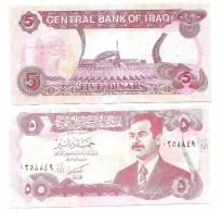 IRAQ  IRAK 5 Dinar SADAM NOTE UNC - Iraq
