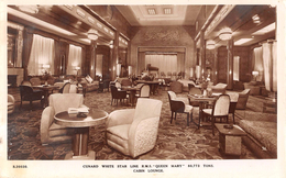 """05831 """"CUNARD WHITE STAR LINER - R.M.S.QUEEN MARY - 80773 TONS - CABIN LOUNGE""""  CART NON SPED - Banche"""