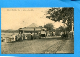 DIEGO SUAREZ-Rue Catinat Et Rue Joffre-animée A Voyagé  -édition -héliasé--années 1900-10 - Madagascar