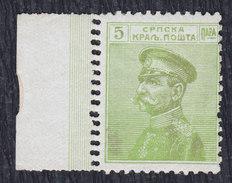 Kingdom Of Serbia 1911 King Petar I, Error - Double Perforation, MH (*) Michel 97 - Serbien