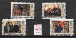 Célébrités Lénine Révolution Russe - Guinée N°622 à 625 1978 O