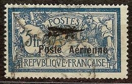 SUPERBE POSTE AERIENNE N°2 5F BLEU Oblitéré CàD Cote 250 Euro PAS D'AMINCI - Poste Aérienne
