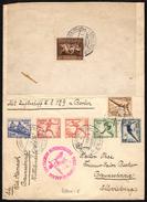 GERMANY FRANKFURT 1/8/36 - OLYMPIC GAMES BERLIN 1936 - AIRSHIP HINDENBURG OLYMPIA RIDE