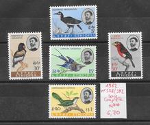 Oiseau - Ethiopie N°388 à 392 1962 ** - Uccelli