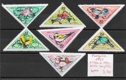 Oiseau - Mongolie N°184 à 190 1961 ** - Pájaros