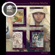 TOGO 2014 SHEET ALPHONSE MUCHA ART PAINTINGS ARTE PINTURAS Tg14303a - Togo (1960-...)