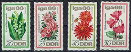 DDR 1966 - MiNr 1189-1192 - Gartenbau-Ausstellung - Maiglöckchen, Indische Azalee, Dahlie, Persisches Alpenveilchen - Pflanzen Und Botanik