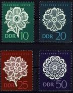 DDR 1966 - MiNr 1185-1188 - Plauener Spitze - Pflanzen Und Botanik
