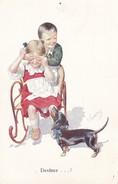 Teckel  Dackel  Dachshund Enfants  K.Feiertag  Chien  Hund  Cane  Old Postcard BKWI  322-4 Cpa. - Chiens