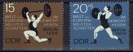 DDR 1966 - MiNr 1210-1211 -  Welt- Und Europameisterschaften Im Gewichtheben, Berlin - Gewichtheben