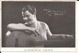 VIRGINIA VERA FOLKLORISTA GUITARRISTA GUITAR NACIDA EN PAVIA NORTE DE ITALIA ITALIANA PAVESA RARE AUTOGRAPHE CIRCA 1947 - Autographes