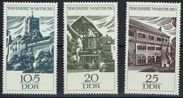 DDR 1966 - MiNr 1233-1235 - 900 Jahre Wartburg Bei Eisenach - Aufenthalt Luthers 1521/22 - Schlösser U. Burgen