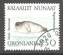 003998 Greenland 1991 Marine Mammals 8.50K FU - Greenland