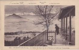 Le Salève - La Chaîne Des Alpes Vue De La Terrasse Du Buffet Des Treize Arbres - Faverges