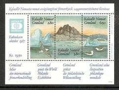 004001 Greenland 1987 Hafnia Mini Sheet MNH - Blocchi
