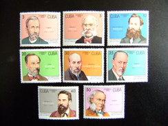 CUBA 1992 CELEBRIDADES De Las CIENCIAS  Yvert 3287 / 3294 ** MNH - Louis Pasteur