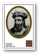 D. AFONSO III - O Bolonhês - 1248/1279 - N.º 5 -  Monarquia Reis De Portugal Kings Rois - 1993 - Tamaño Pequeño : 1991-00