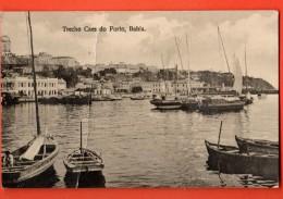 IBW-08  Bahia  Trecho Caes Do Porto. Gros Pli Vertical.. Used In 1935 To Switzerland. - Argentine