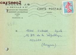 SAINT BONNET LE CHATEAU BOULES J.B. BOULEVARD DES CHAUCHERES  COMMANDE LIVRAISON 42 - Francia
