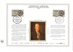 """FRANCE / USA 1983 Feuillet DAP 1° Jour CERES En Soie RARE (4300 Ex) """" 200 ANS DE L'INDEPENDANCE """" N° YT 2285. Parf état - Unabhängigkeit USA"""