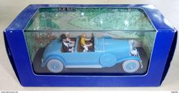 En Voiture Tintin, La Lincoln Torpedo, Les Cigares Du Pharaon, Collection Atlas - Statuettes En Métal