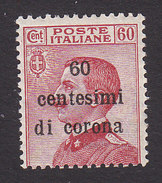 Italian Occupation Of Austria, Scott #N73, Mint Hinged, Italian Stamp Surcharged, Issued 1919 - 8. WW I Occupation